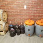 Aging in cellar before bottling